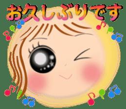 Big eyes girl stickers sticker #12001753