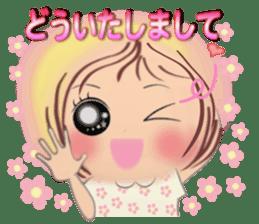Big eyes girl stickers sticker #12001762