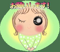 Big eyes girl stickers sticker #12001768