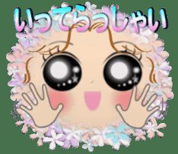 Big eyes girl stickers sticker #12001770