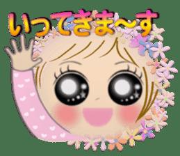 Big eyes girl stickers sticker #12001771