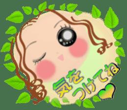 Big eyes girl stickers sticker #12001772