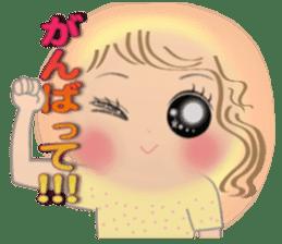 Big eyes girl stickers sticker #12001774