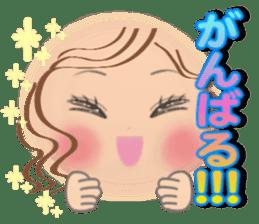Big eyes girl stickers sticker #12001775