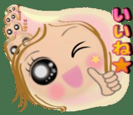 Big eyes girl stickers sticker #12001776
