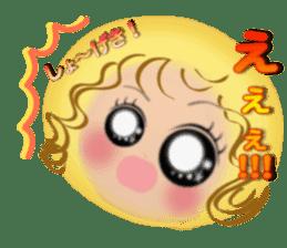 Big eyes girl stickers sticker #12001780