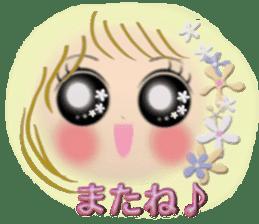 Big eyes girl stickers sticker #12001787