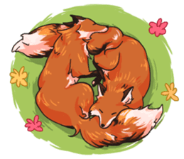 Flurry the fox sticker #12006648