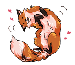 Flurry the fox sticker #12006651