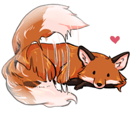 Flurry the fox sticker #12006655