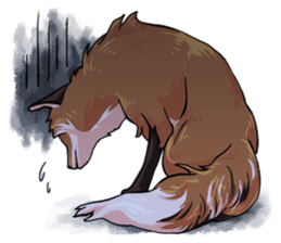 Flurry the fox sticker #12006657