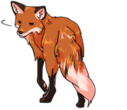 Flurry the fox sticker #12006660