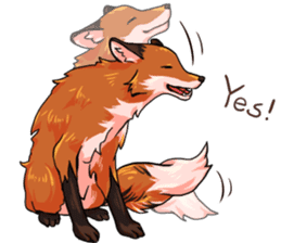 Flurry the fox sticker #12006664