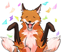 Flurry the fox sticker #12006668