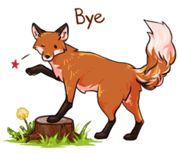 Flurry the fox sticker #12006670