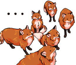 Flurry the fox sticker #12006681