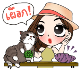 Yuri with mom and cat sticker #12011652
