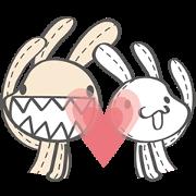สติ๊กเกอร์ไลน์ Foufou Bunny: All We Need Is Love