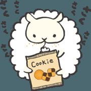 สติ๊กเกอร์ไลน์ Fluffy Pom Pom Sheep
