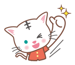 Cats want to be a tiger! sticker #12029186