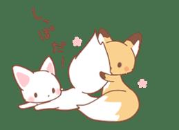 moving fox sticker #12029959