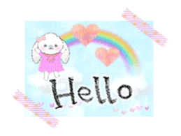 Message of a lop eared rabbit -movie1- sticker #12032230