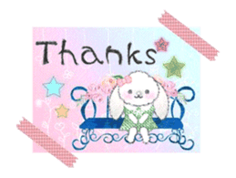 Message of a lop eared rabbit -movie1- sticker #12032235