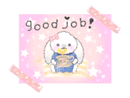Message of a lop eared rabbit -movie1- sticker #12032240