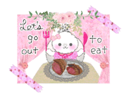 Message of a lop eared rabbit -movie1- sticker #12032247