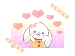 Message of a lop eared rabbit -movie1- sticker #12032252