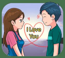 LDR Couple Story 2 sticker #12035533
