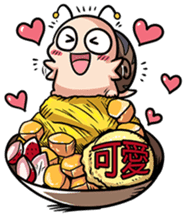 Tumurin with sweets of Chinese sticker #12039960