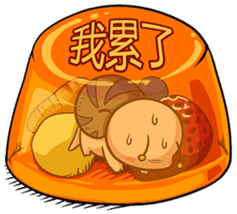 Tumurin with sweets of Chinese sticker #12039980