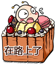 Tumurin with sweets of Chinese sticker #12039982