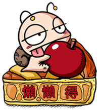 Tumurin with sweets of Chinese sticker #12039984