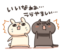 Shiro the rabbit & kuro the cat Part3 sticker #12041184