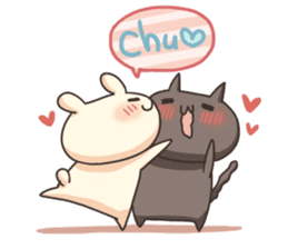 Shiro the rabbit & kuro the cat Part3 sticker #12041204