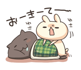 Shiro the rabbit & kuro the cat Part3 sticker #12041205