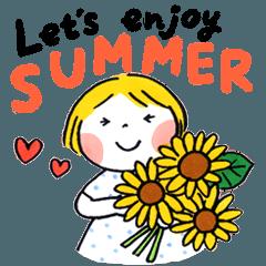 Good friends Let's enjoy SUMMER