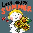 仲良しともだち Let's enjoy SUMMER - クリエイターズスタンプ