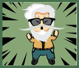 Hipster Jiji sticker #12046069