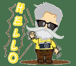 Hipster Jiji sticker #12046075