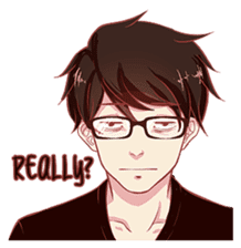 That One Guy With Glasses. sticker #12053423