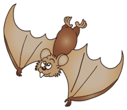 A bat and an owl are big good friends! sticker #12053983