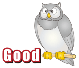 A bat and an owl are big good friends! sticker #12054009