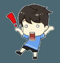 Loma playful boy + sticker #12061139