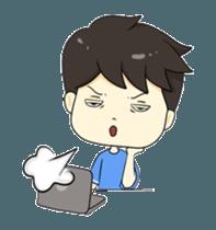 Loma playful boy + sticker #12061141