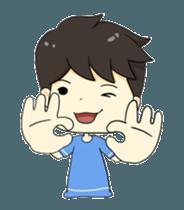 Loma playful boy + sticker #12061142