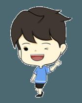 Loma playful boy + sticker #12061150