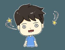 Loma playful boy + sticker #12061152